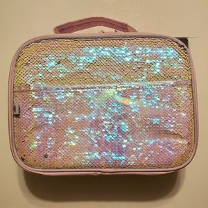 Pink Sequined Lunch Tote